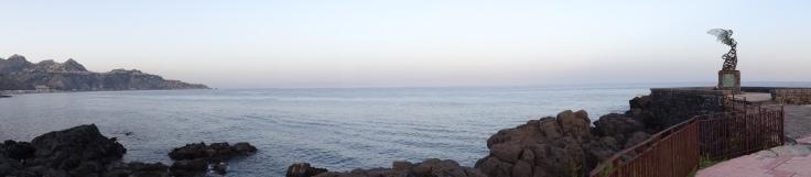 Giardini Naxos, Sizilien, Italien, Urlaub, Meer, baden, September,